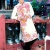 Áo dài nam trắng họa tiết rồng truyền thống