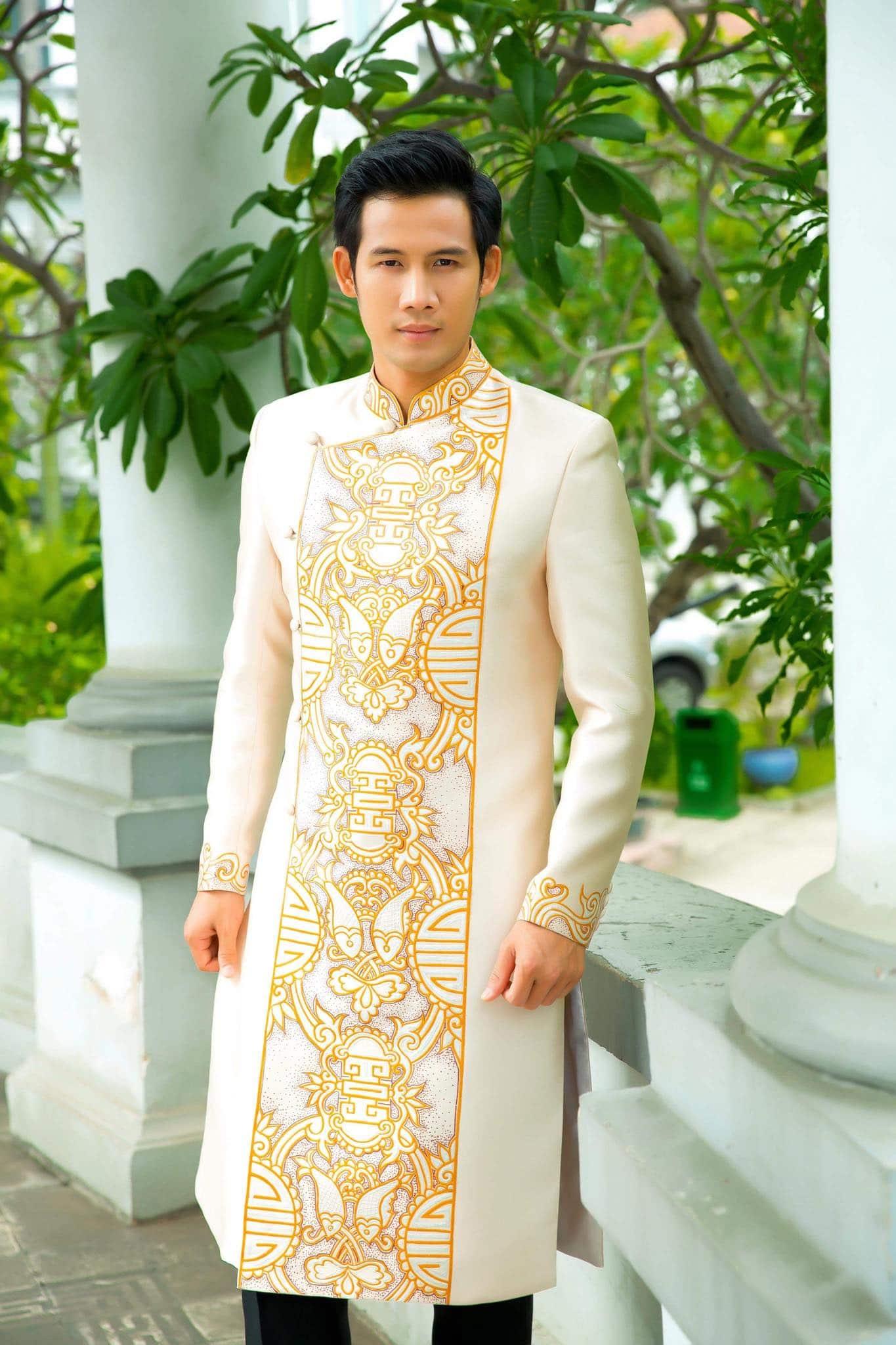 may áo dài nam đẹp