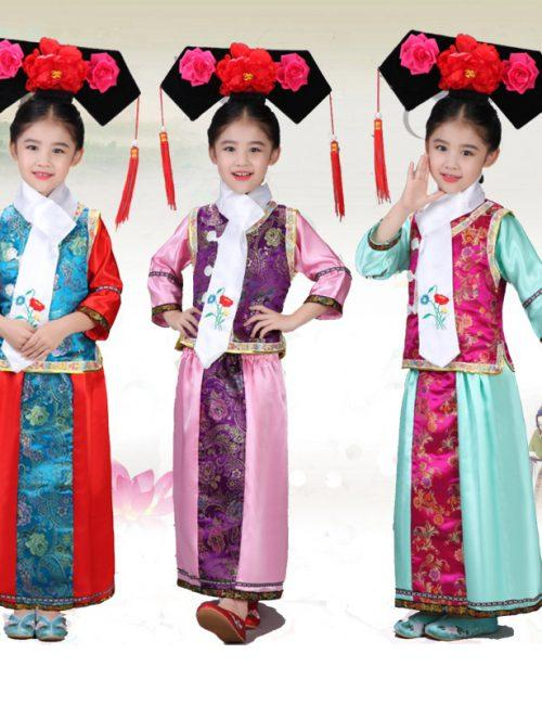 Trang phục cổ trang hoàn châu cách cách cho trẻ em
