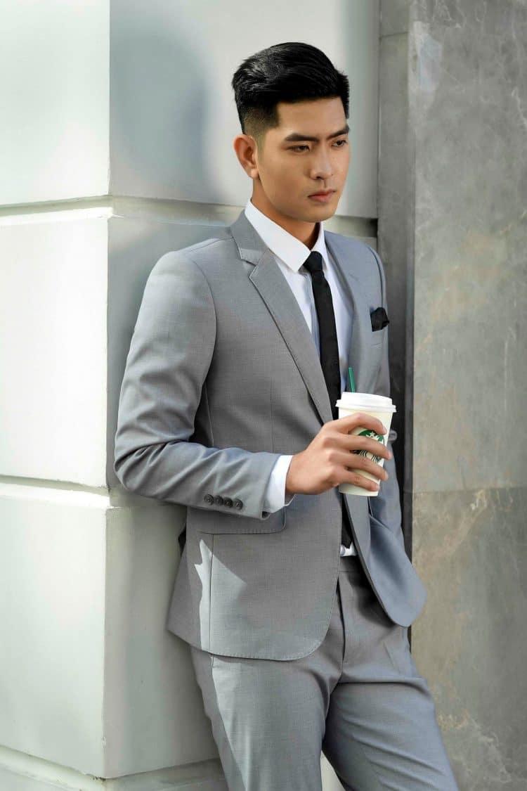 áo vest nam màu ghi