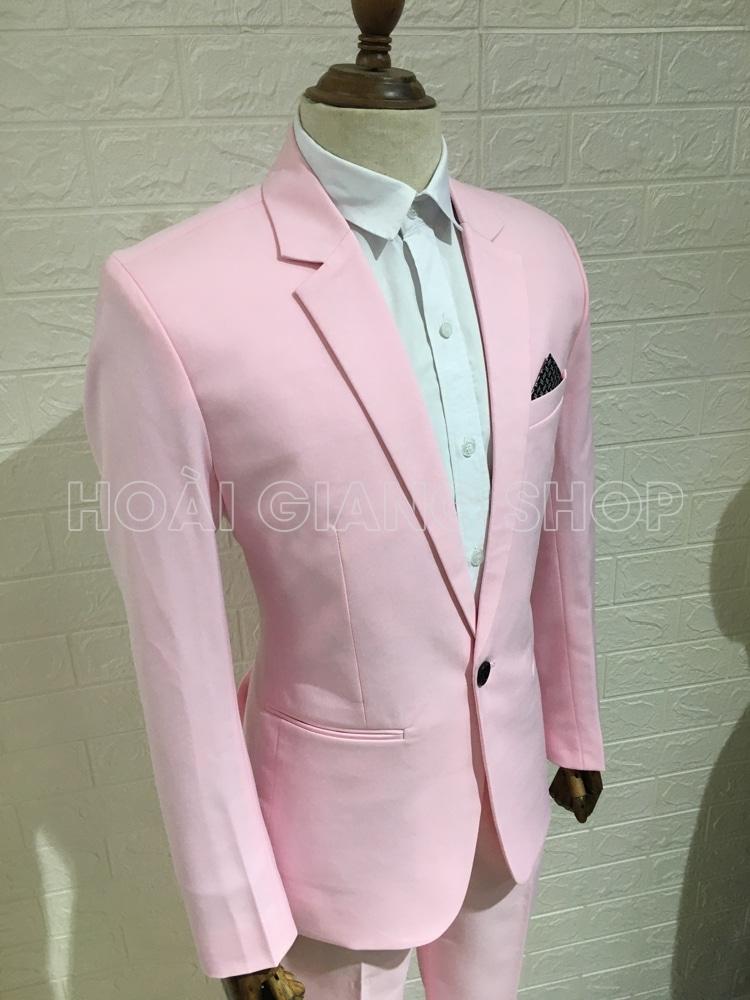 cho thuê vest nam màu hồng nhạt