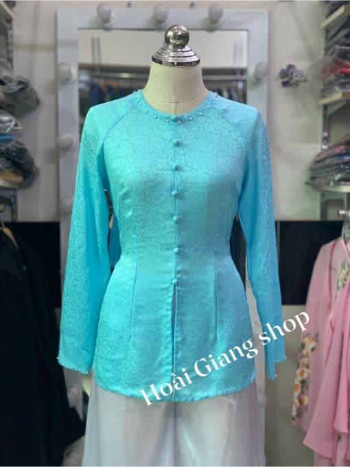 bán áo bà ba gấm xanh