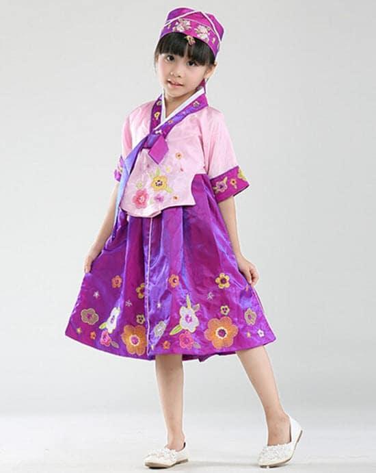 Trang phục Hanbok mùa đông cho bé đem lại nét thời trang