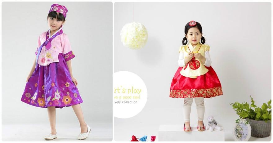 Ưu điểm khi mặc trang phục Hanbok mùa đông cho bé