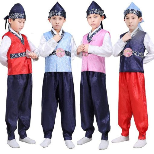 Hanbok bé trai gấm