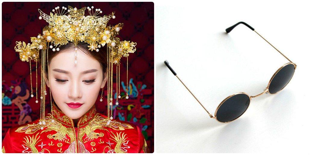 Phụ kiện không thể thiếu cho bộ ảnh cưới Trung Quốc