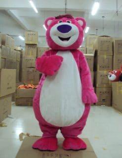 Mascot gấu hồng