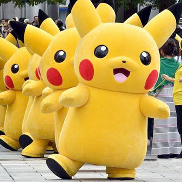 mẫu Mascot hoạt hình Pikachu
