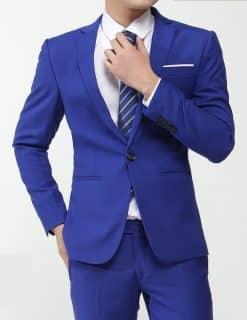 cho thuê vest nam xanh coban