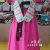Hanbok Hàn Quốc nữ tay sọc