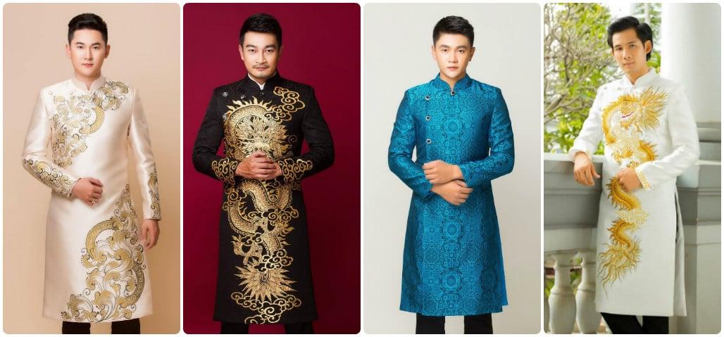 May áo dài nam cao cấp đẹp miễn chê tại Hoài Giang shop