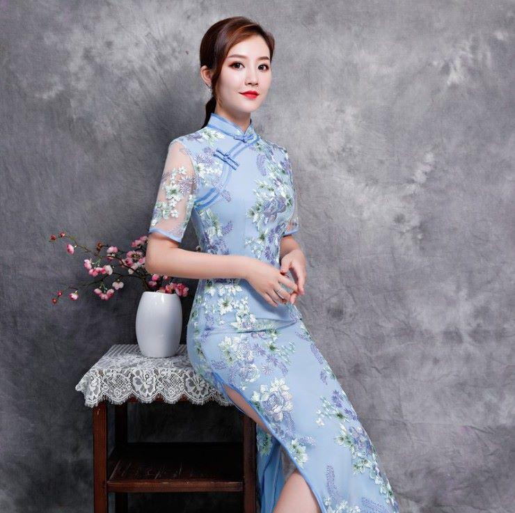 Sườn xám Trung Hoa trẻ trung