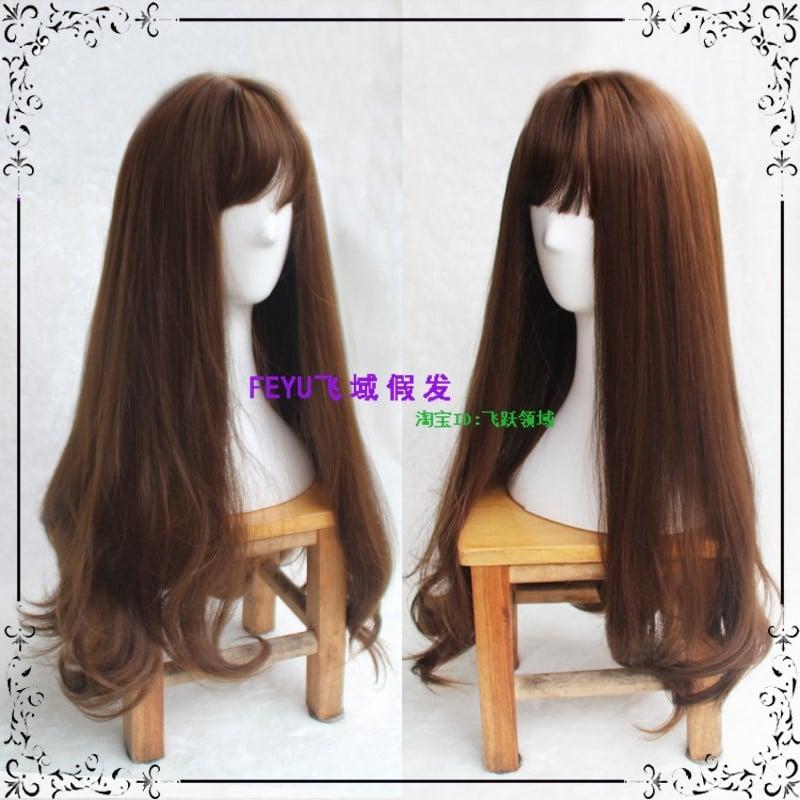 Tóc giả nữ dài uốn