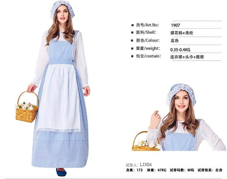 trang phục cô gái hà lan