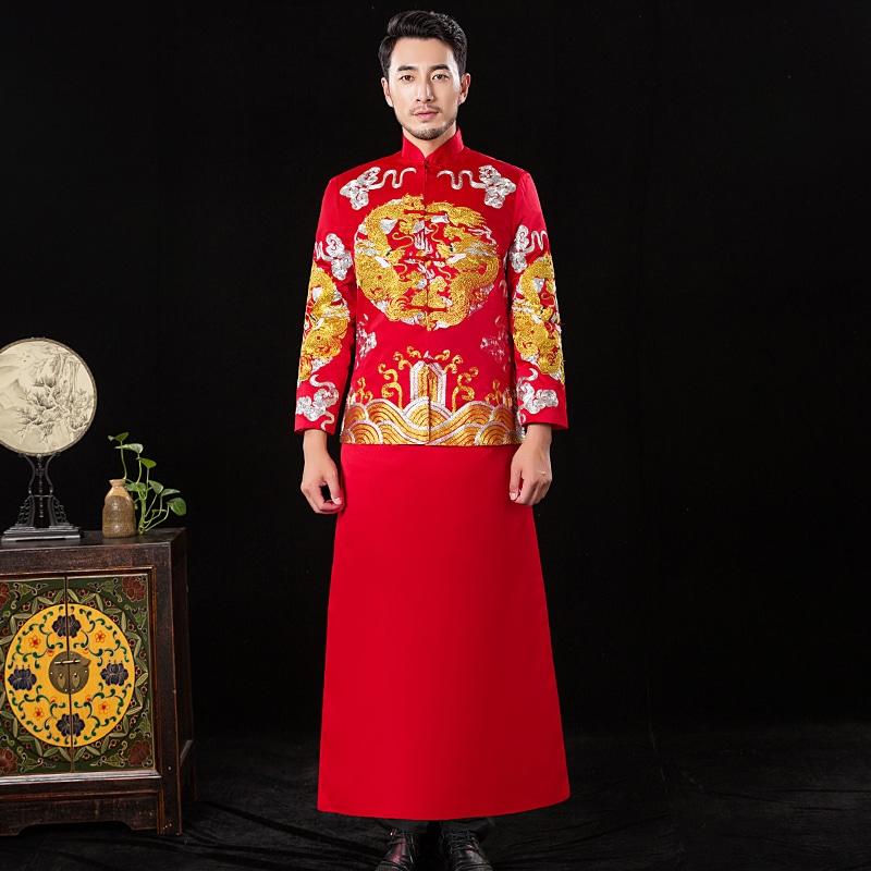 áo khỏa chú rễ trung quốc
