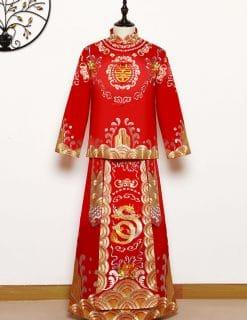trang phục cưới truyền thống người Hoa
