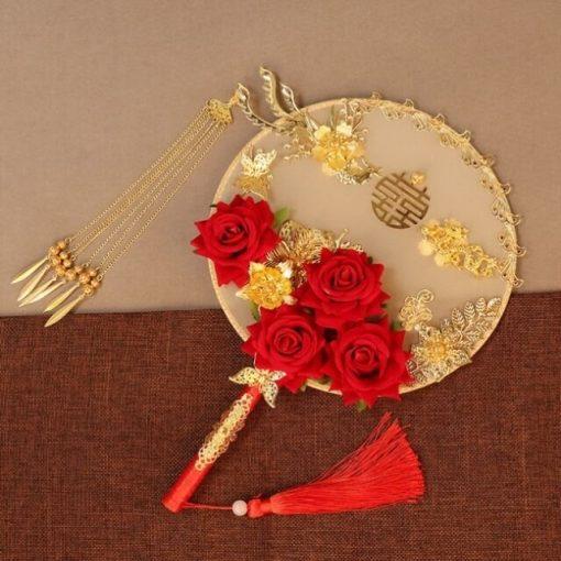 cho thuê quạt cưới trung quốc