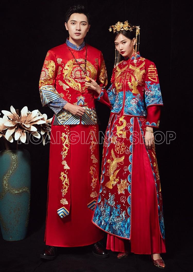 cặp hỷ phục trung hoa đẹp