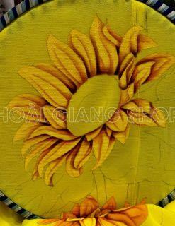 bà ba vàng vẽ hoa hướng dương cao cấp