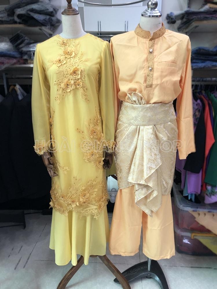 cho thuê trang phục malaysia vàng