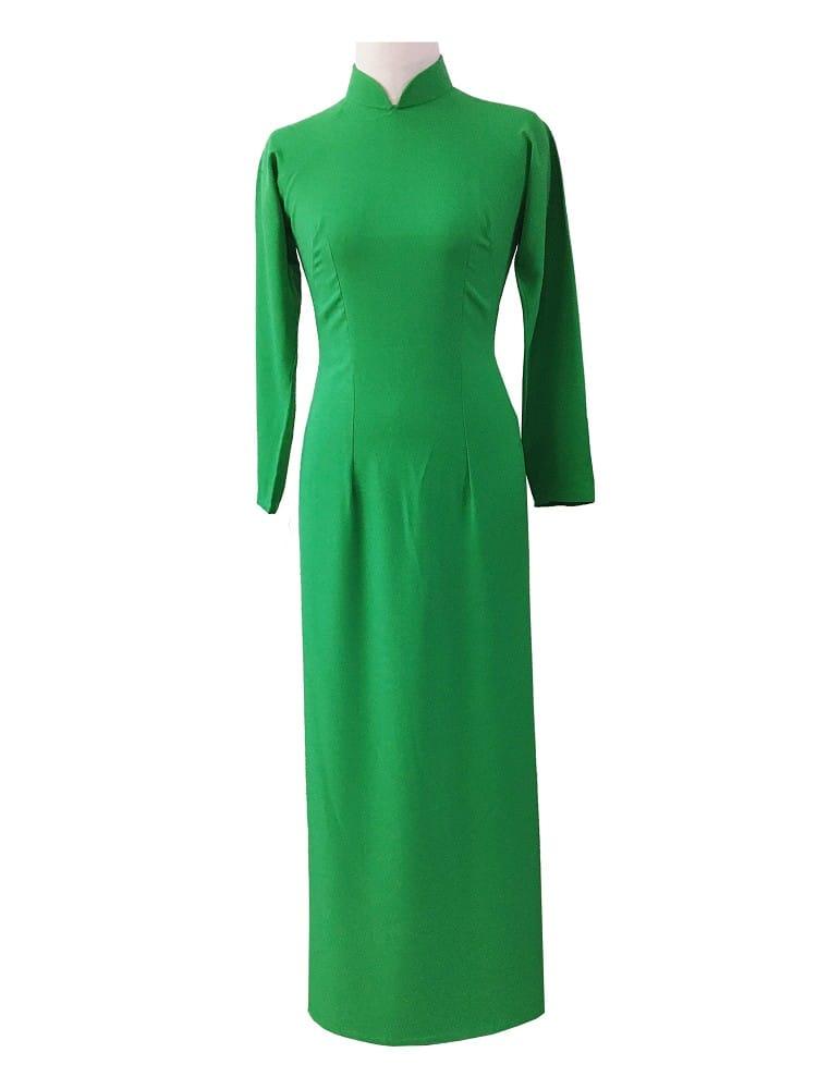 cho thuê áo dài nữ xanh lá