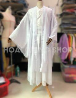 trang phục cổ trang nam trắng