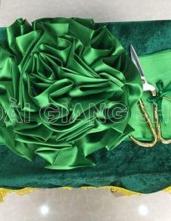 cho thuê bộ cắt khánh thành màu xanh lá