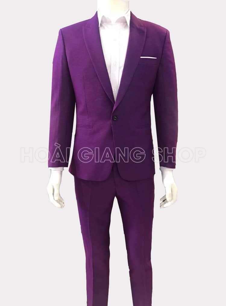 cho thuê vest nam màu tím
