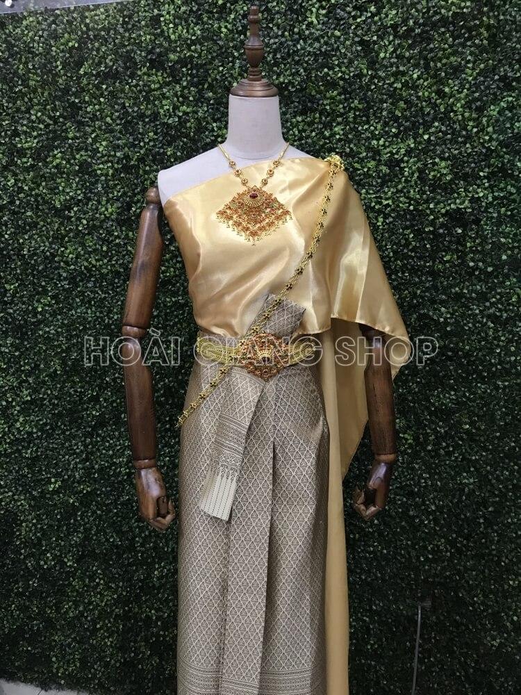 cho thuê trang phục thái lan màu vàng