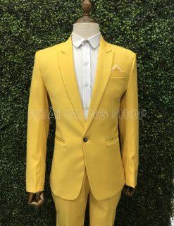 thuê vest nam màu vàng