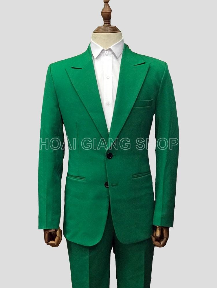thuê vest nam màu xanh lá cây
