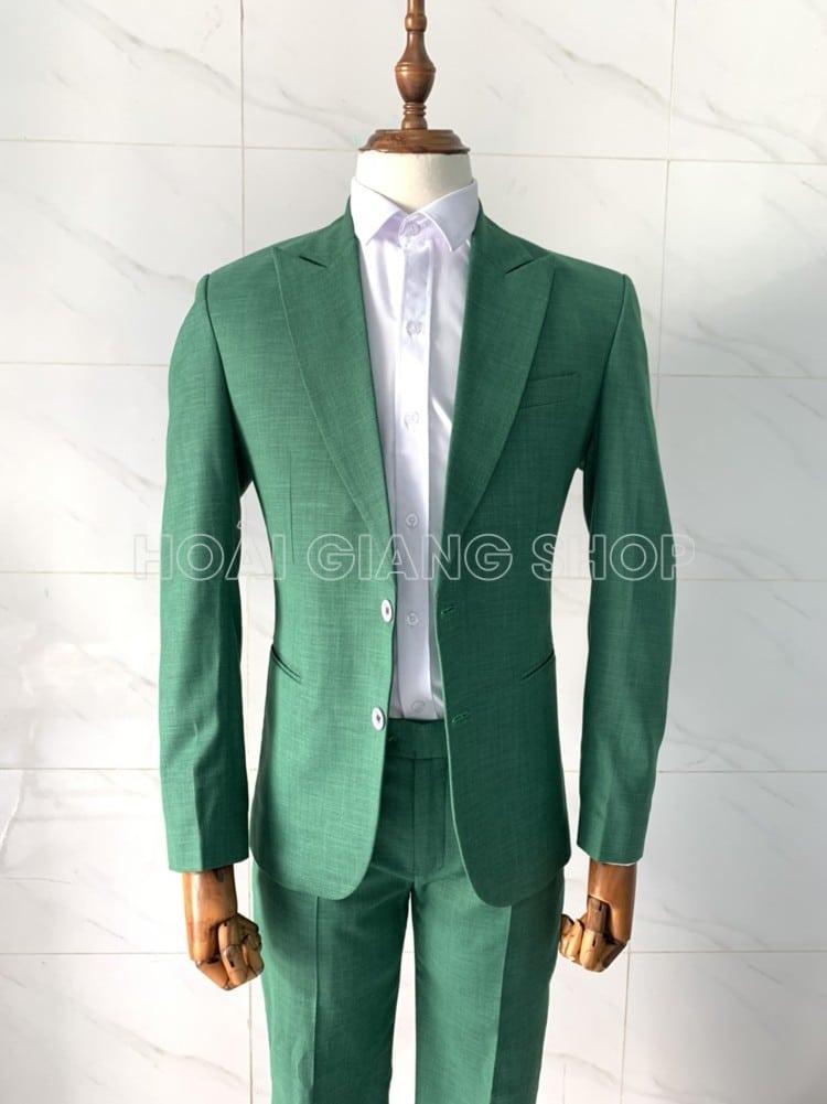 cho thuê vest nam xanh lá