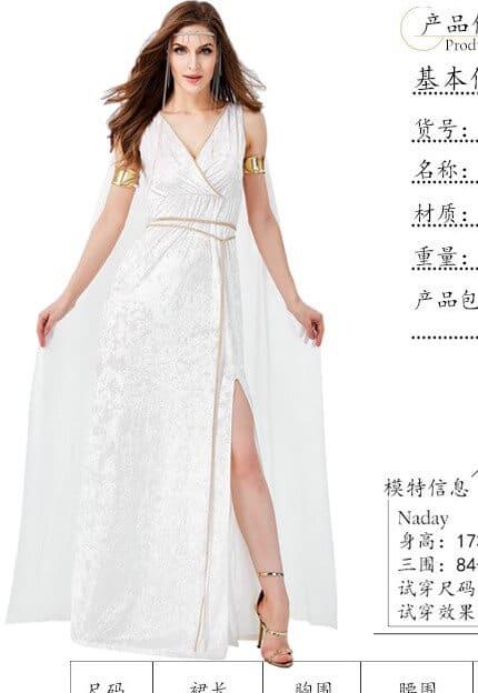 trang phục hy lạp nữ trắng dài