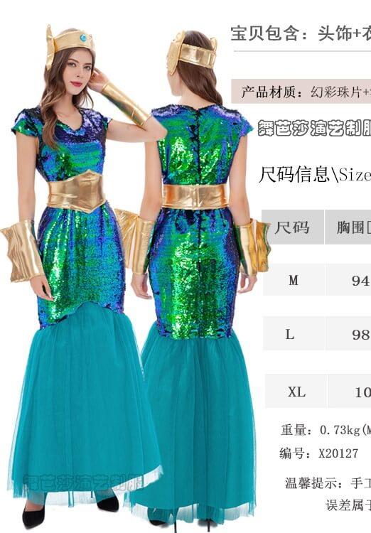 trang phục nữ hoàng biển cả