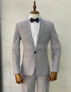 vest nam màu xám nhạt
